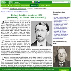 Biographie de Richard Dedekind
