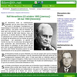 Biographie de Rolf Nevanlinna