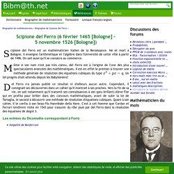 Biographie de Scipione del Ferro