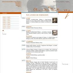 Claude Debussy : Biographie Chronologie - Centre de documentation Claude Debussy