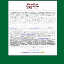 Biographie du Marquis de Sade