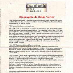 Biographie de Dziga Vertov