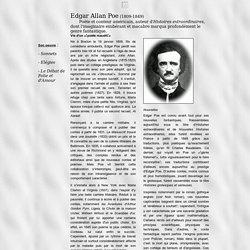 Biographie d'Edgar Allan Poe