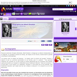 Biographie > Albert Einstein, Physicien