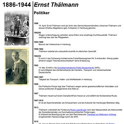 Biographie: Ernst Thälmann, 1886-1944