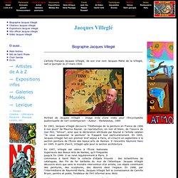 Jacques Villeglé - Biographie Jacques Villegle peintre, oeuvres Villeglé tableaux, expositions