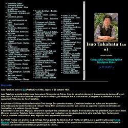 Biographie et Filmographie de Isao Takahata