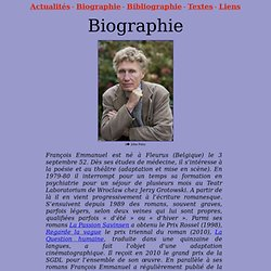 Biographie de François Emmanuel