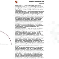 Biographie de Giuseppe Verdi - forum opéra