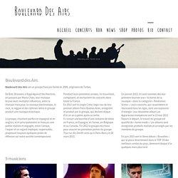 Biographie du groupe BDA Boulevard des airs
