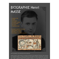 BIOGRAPHIE Henri MASSE