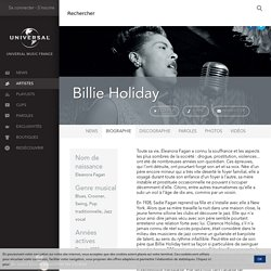 Biographie de Billie Holiday - Universal Music France