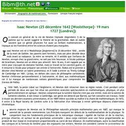 Biographie de Isaac Newton