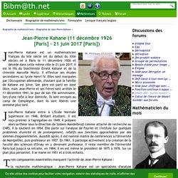 Biographie de Jean-Pierre Kahane
