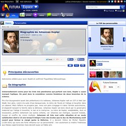 Biographie > Johannes Kepler, Astronome