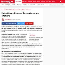 Biographie Jules César
