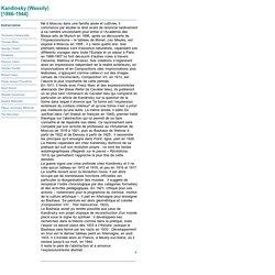 Biographie - Kandinsky (Wassily)
