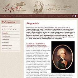 Biographie - Lafayette - Château Musée
