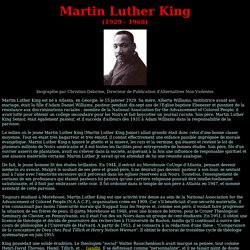 Biographie de Martin Luther King