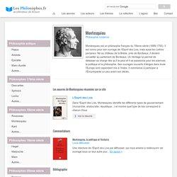 Biographie de Montesquieu, philosophe français du 18ème siècle