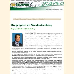 Biographie de Nicolas Sarkozy