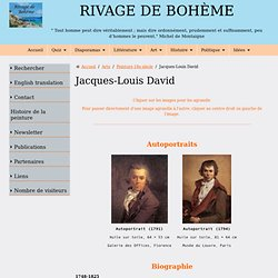 Biographie et œuvre de Jacques-Louis David