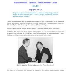 Biographie d'Otto Dix peintre : oeuvres et tableaux