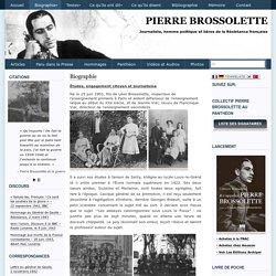 Biographie sur Pierre Brossolette