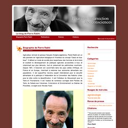 Biographie de Pierre Rabhi