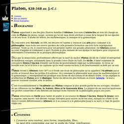 Biographie de Platon