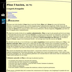 Biographie de Pline l'Ancien