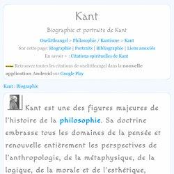 Biographie et portraits de Kant