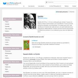 Biographie d'Epictète : présentation de ce philosophe grec