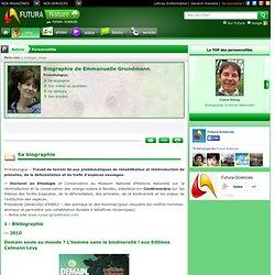 Biographie > Emmanuelle Grundmann, Primatologue