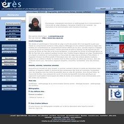 Veronique SERVAIS - Biographie, publications (livres, revues, articles)