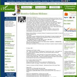 Béatrice Galinon-Melenec - Biographie, publications (livres, articles)