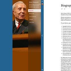 Biographie - Rhétorique et société en Europe (XVIᵉ-XVIIᵉ siècles) (1987-2002)