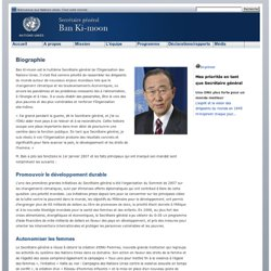 Ban Ki-moon biographie