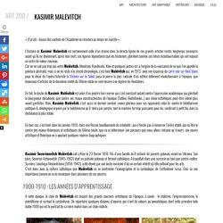 Biographie et oeuvres de Kasimir Malévitch fondateur du suprématisme
