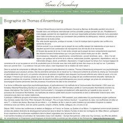 Biographie de Thomas d'Ansembourg