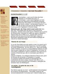 Biographie de Thucydide, historien grec du Vème Siècle av. J-C. : vie et oeuvre de Thucydide, Livres sur Thucydide