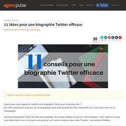 11 idées pour une biographie Twitter efficace
