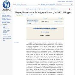 Biographie nationale de Belgique/Tome 1/AUBRY, Philippe