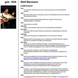 Biographie: Wolf Biermann, geb. 1936