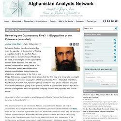 Releasing the Guantanamo Five? 1: Biographies of the Prisoners (amended) | Afghanistan Analysts Network