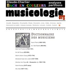 Biographies musicales