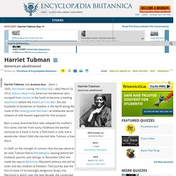 biography - American abolitionist