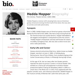 Hedda Hopper - Biography - Film Actress, Theater Actress - Biography.com