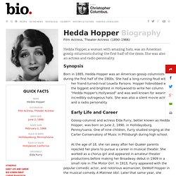 Hedda Hopper - Biography - Film Actress, Theater Actress - Biography.com