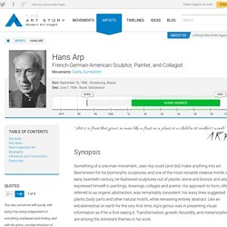 Hans Arp Biography, Art, and Analysis of Works